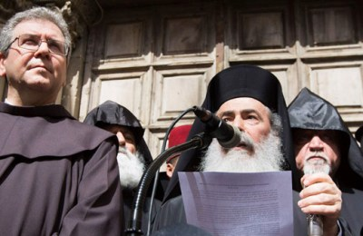 Churches in Jerusalem close the Holy Sepulcher in protest