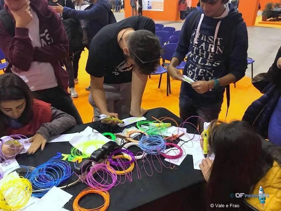 attività stand al salone dello studente di roma bambini e ragazzi ofpassion