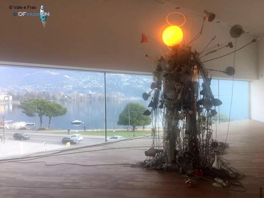 sculture teconologiche all'evento a lugano ofpassion