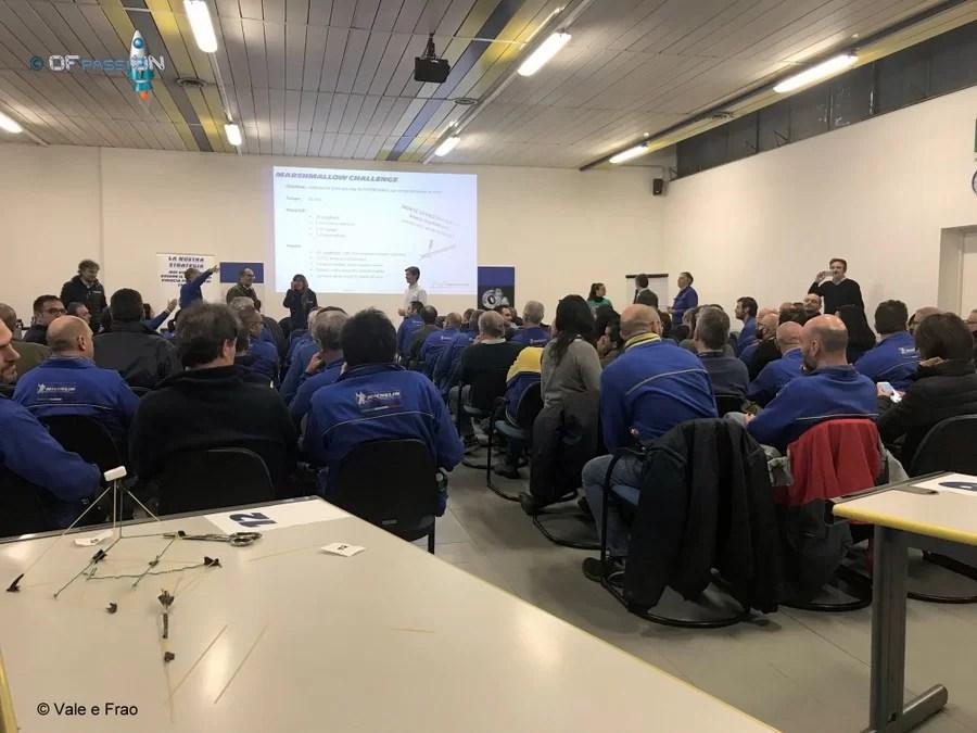conclusione delle attività di valeria cagnina e francesco baldassarre ofpassion team building e formazione in azienda michelin