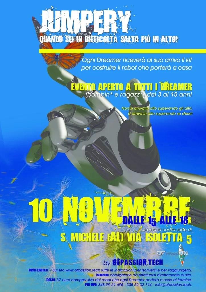 robotica jumpery robot alessandria laboratorio  valeria cagnina francesco baldassarre