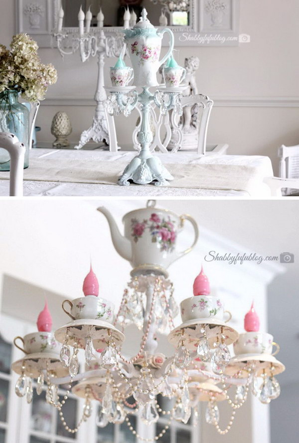 Awesome Teacup Chandelier Tutorial