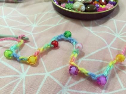 bead cord close up