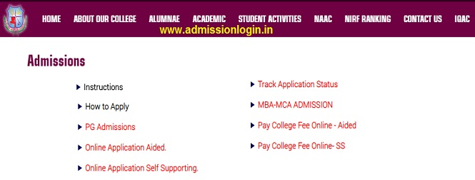 Ethiraj College Admission Online Application Form, Last Date, Fees Payment