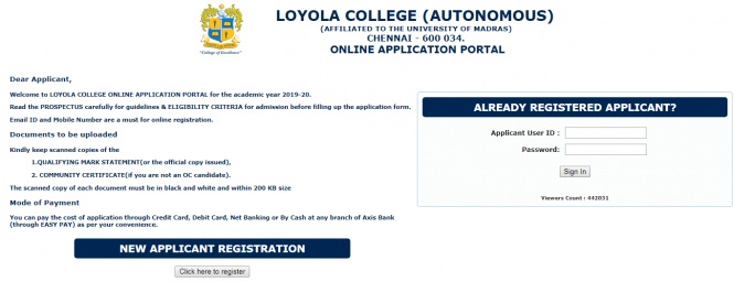 Loyola College Admission [Chennai] – Application Form, Courses, Fees, Last Date