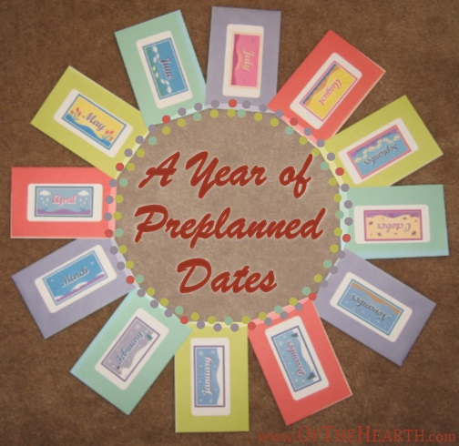 A Year Of Preplanned Dates Gift Idea