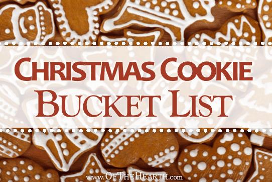 Christmas Cookie Bucket List