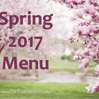 Spring 2017 Menu