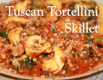 Rich in vegetables and in flavor, this Tuscan Tortellini Skillet is affordable and conveniently prepared in one skillet. It will please the whole family!