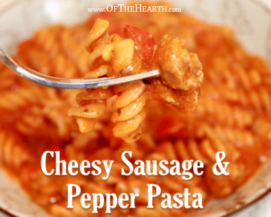 Its yummy flavor, ease of preparation, and affordable price make this Cheesy Sausage and Pepper Pasta a hit with the whole family.
