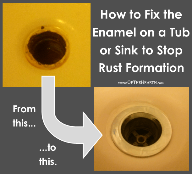 How To Fix The Enamel On A Bathtub To Stop Rust Formation