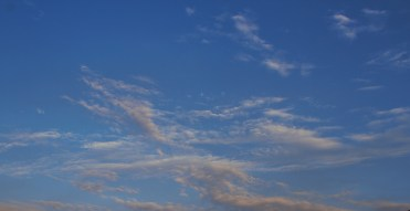 One of two sky shots. Cool whispy clouds.