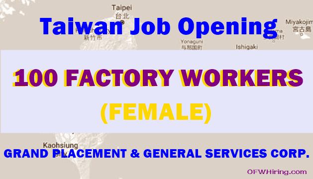 100-Female-Factory-Worker-Job-Hiring-for-Taiwan
