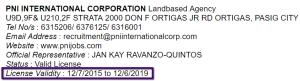 PNI_INTERNATIONAL_CORPORATION_License_Validity