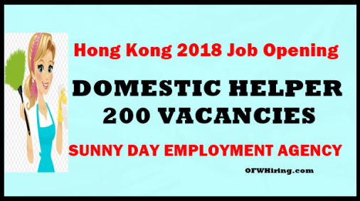 Hong-Kong-Job-Opening-for-Domestic-Helper
