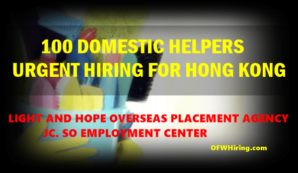 Domestic-Helper-Hong-Kong-Job-Hiring