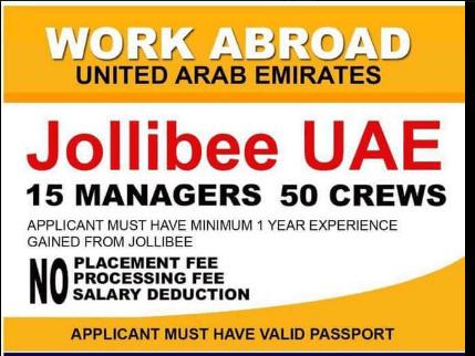 jollibee hiring