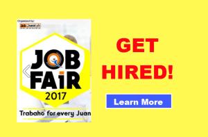 Job Fair 2017 Schedule