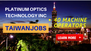 machine operator taiwan job