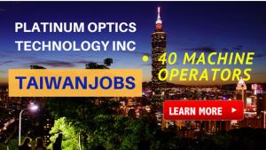 machine operator taiwan job