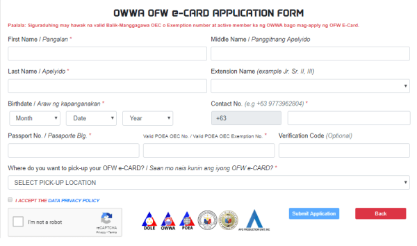 ofw id card online application
