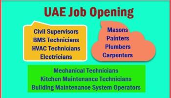 Qatar Job Hiring: ELECTRICAL and MECHANICAL TECHNICIANS