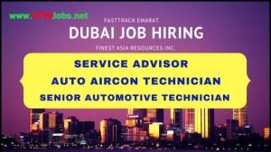 Dubai-Job-Opening-Auto-Aircon-Technician-Service-Advisor-Senior-Automotive-Technician