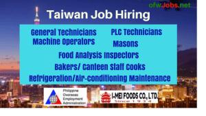 machine-operators-food-processing-taiwan-job-opening