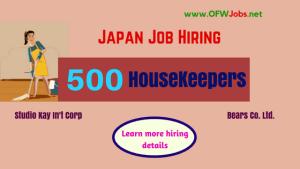 Japan-Job-Vacancies-500-Housekeepers.