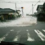 【酒田市】ゲリラ豪雨の朝
