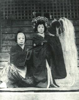 大正時代の頃愛宕神社のお祭りにて