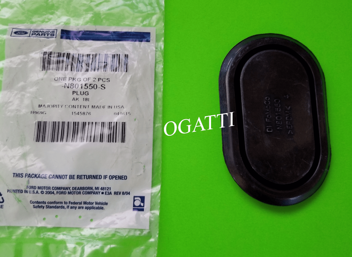 Brand New OEM PLUG BUTTON 51.0X89.0 OBLONG N801550-S |N8015|