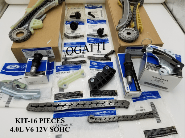 Brand New OEM Timing Chain 4.0L, 16 Pieces Engine Repair Kit (OG-60-4.0L-16-1)