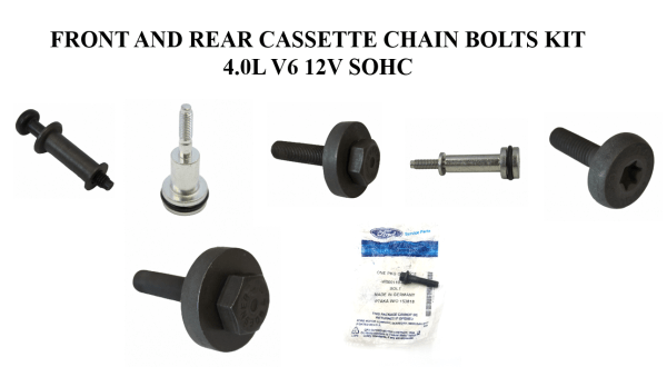 Brand New OEM Bolts Timing Chain Cassette 4.0L, 7 Pieces Engine Repair Kit (OG-60-4.0L-7-2)