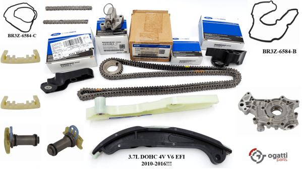 Brand New OEM Timing Chain Kit 3.7L DOHC 4V V6 EFI 2010-2016, 16 Pieces, Engine Repair Kit (OG-60-3.7L-16-1)