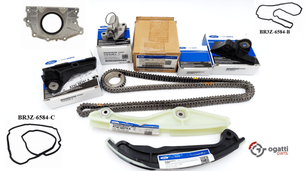 Brand New OEM Timing Chain Kit 3.5L DOHC VCT, 10 Pieces, Engine Repair Kit (OG-60-3.5L-10-2)