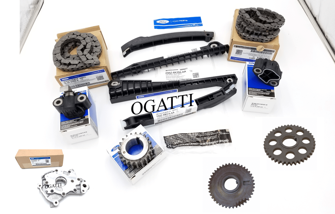 Brand New OEM Timing Chain Guides 6.8L 10 CYL, 12 Pieces, Engine Repair Kit (OG-60-6.8L-12-1)
