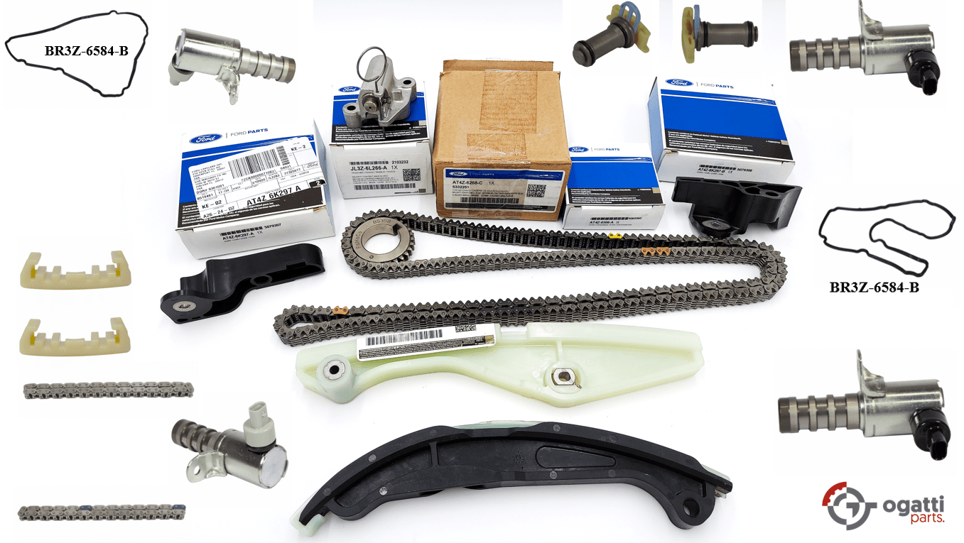 Brand New OEM Timing Chain Kit 3.5L DOHC VCT, 19 Pieces, Engine Repair Kit (OG-60-3.5L-19-2)