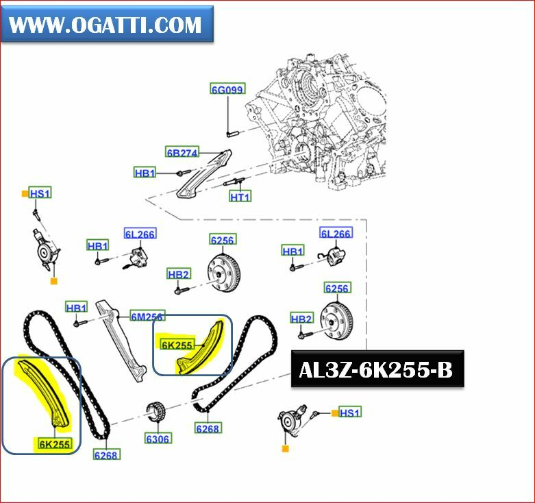 Brand New OEM ARM – TIMING CHAIN TENSIONER (AL3Z-6K255-B) (AL3Z6K255B)