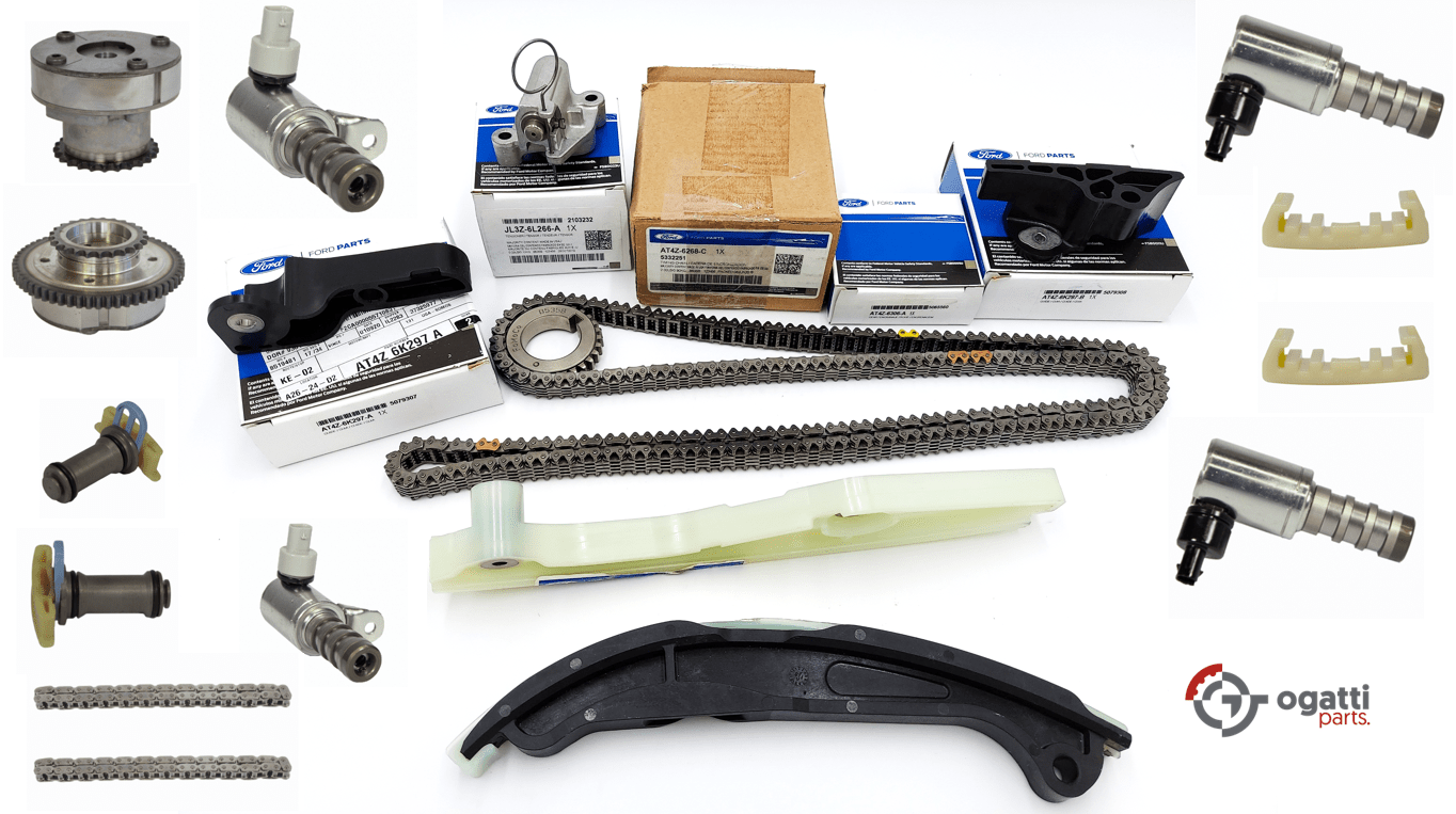 Brand New OEM Timing Chain Kit 3.5L DOHC VCT, 19 Pieces, Engine Repair Kit (OG-60-3.5L-19-1)