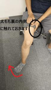 膝外旋の図