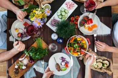 食事の写真