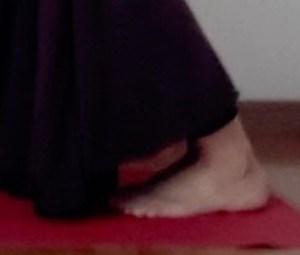 ダウンドッグの足