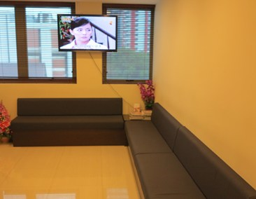 Lobby with TV | The O&G Specialist Clinic