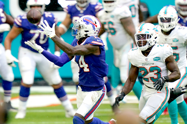 Wide Reciever Stefon Diggs ran riot against Miami in the Dolphins Week two matchup.