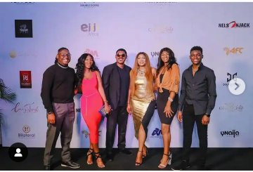 Omotola reveals her favorite child among her four children in this family get together…