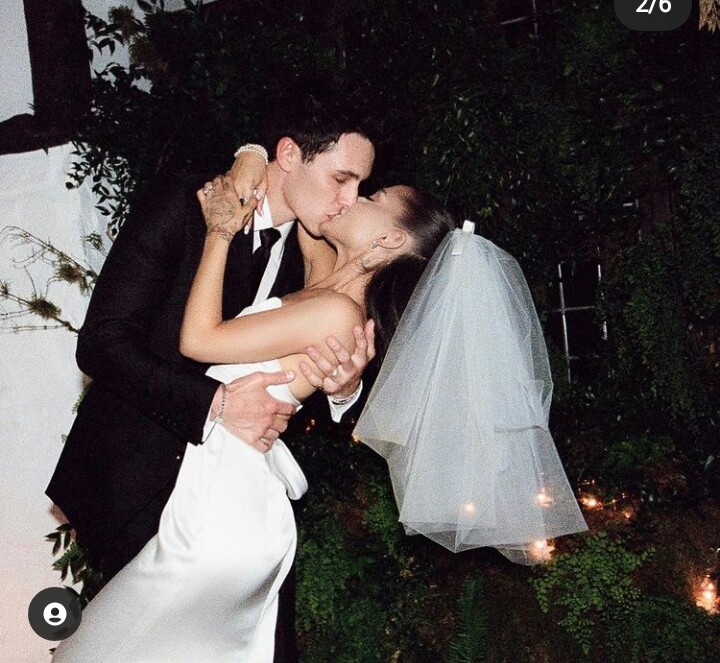 View top celebrities' reactions to new pictures of American singer, Ariana Grande, and new husband, Dalton Gomez!