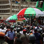 pdp convention delegates at the eagles square abuja