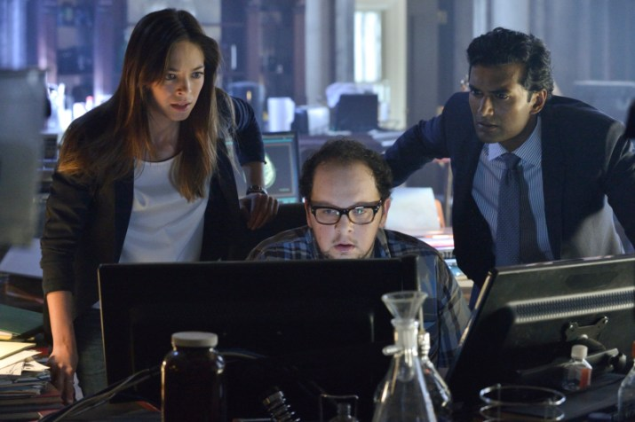Beauty and the Beast -- ÒWho Am I?Ó -- Image Number: BB201a_0207.jpg - Pictured (L-R): Kristin Kreuk as Catherine, Austin Basis as JT and Sendhil Ramamurthy as Gabe - Photo: Ben Mark Holzberg/The CW -- © 2013 The CW Network, LLC. All rights reserved.