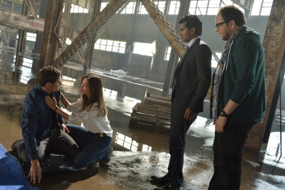 Beauty and the Beast -- ÒWho Am I?Ó -- Image Number: BB201b_0215.jpg Ð Pictured (L-R): Jay Ryan as Vincent, Kristin Kreuk as Catherine, Sendhil Ramamurthy as Gabe and Austin Basis as JT - Photo: Ben Mark Holzberg/The CW -- © 2013 The CW Network, LLC. All rights reserved.
